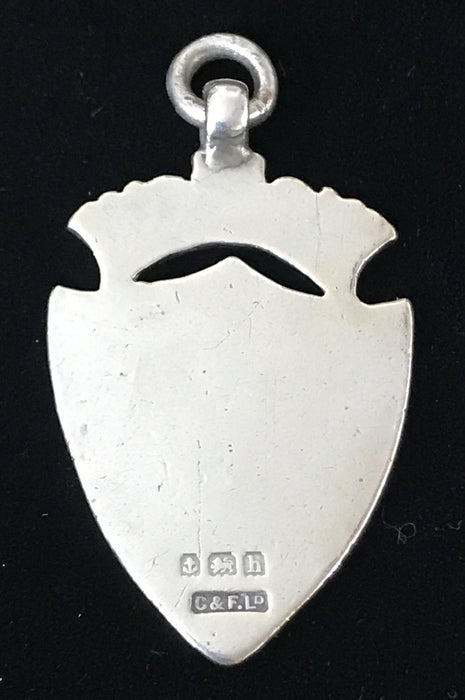 for sale: British Silver Medal Pendant made in Birmingham, England 1907