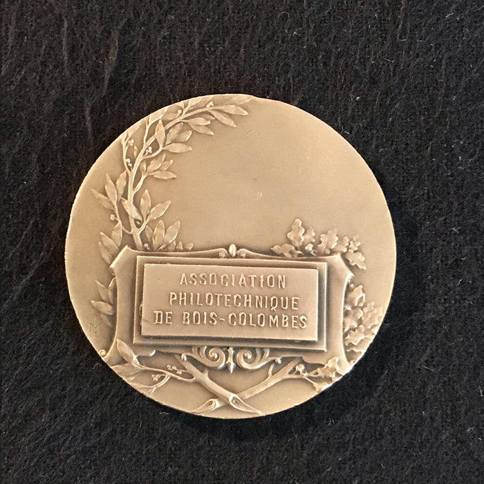 french medal association philotechnique de bois-colombes antique