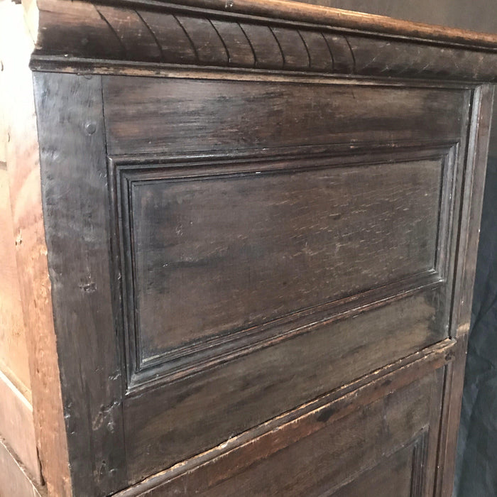 Beautiful Antique Oak British Charles II 18th Century Chest or Commode with Early Brass Hardware