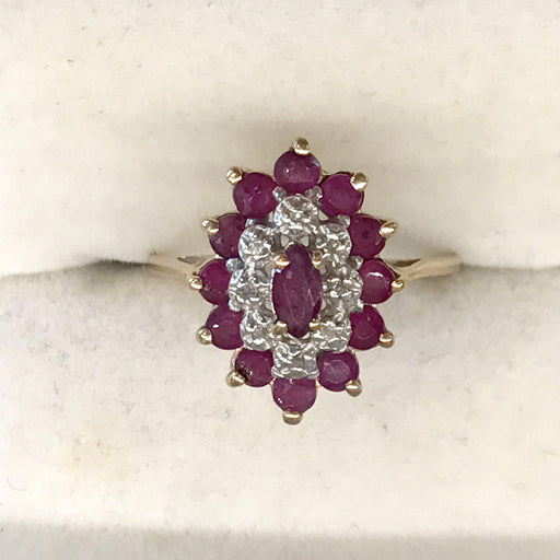 English Diamond and Ruby Ring