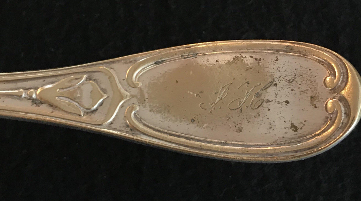 French Silver Hand Etched Fish Server
