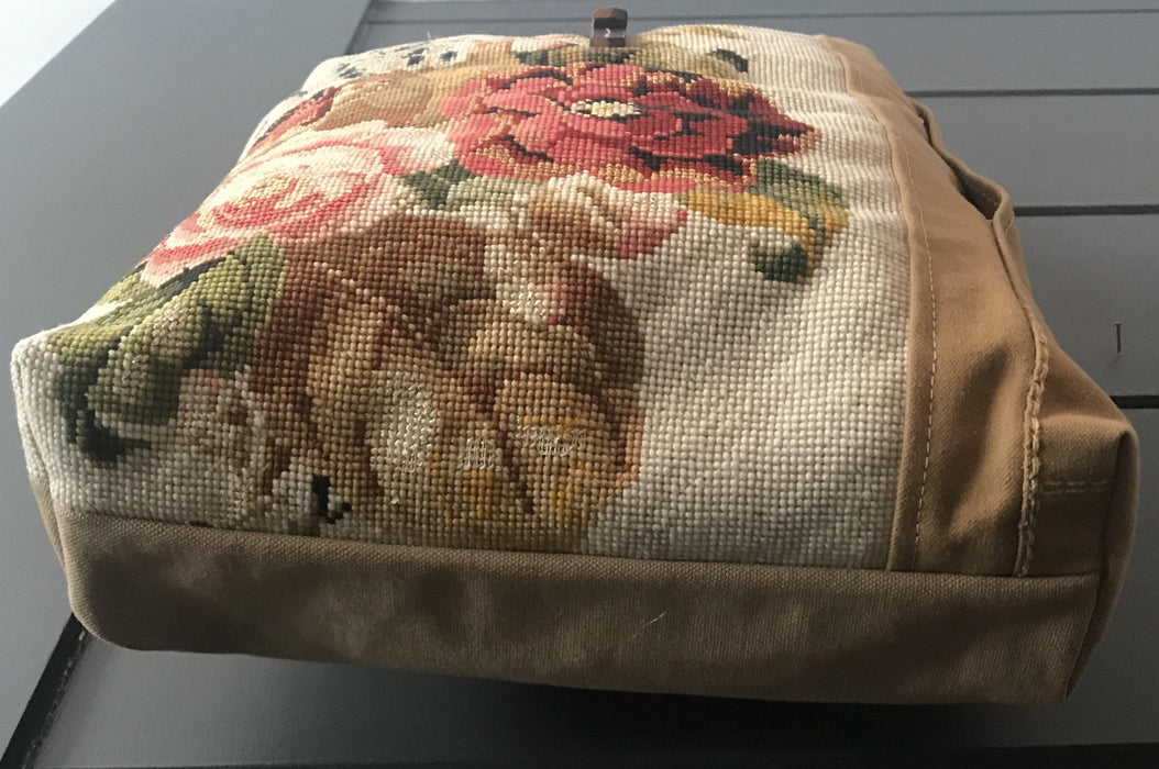 To buy: Beautiful British Artist-made bag: French Canvas and Floral Embroidery