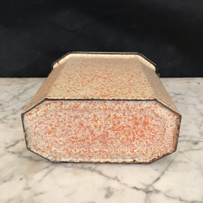 French Enamel Lunch Box - Speckled