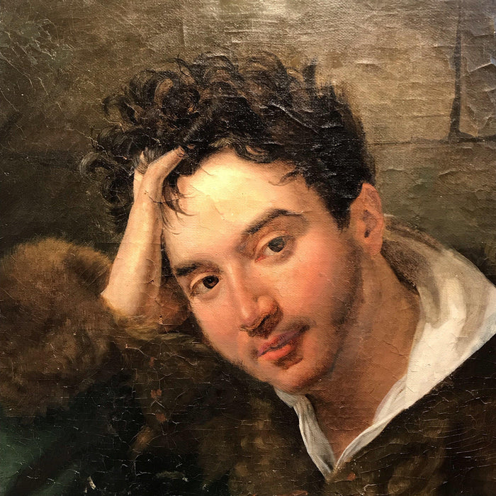 Buy this Unsigned French Portrait of Young Man Holding Letter
