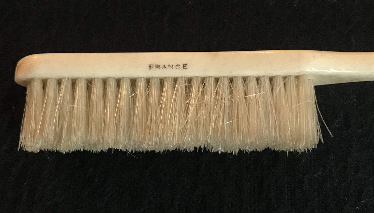 1800s French Victorian-Era Bone/Silver Brush for sale