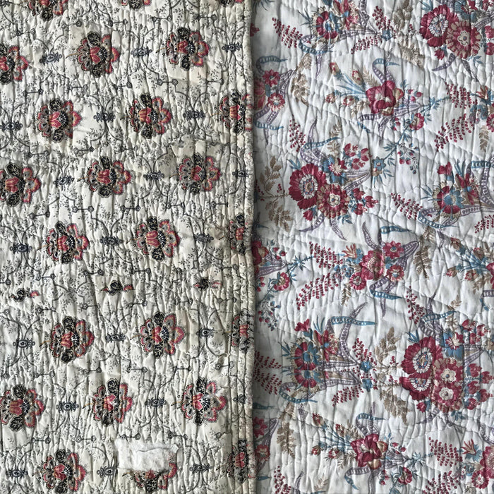 French for sale Floral Quilt 2-Sided