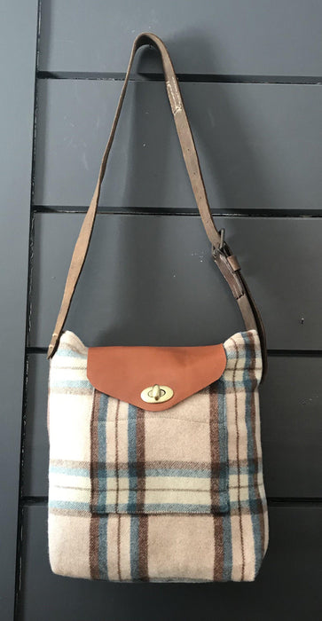 British Artist-made Vintage Wool Blanket Bag/Purse for sale
