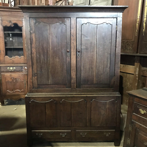 Early Oak Welsh Wardrobe/Armoire 17th/18th Century Livery/Tack, Harness Hall Cupboard