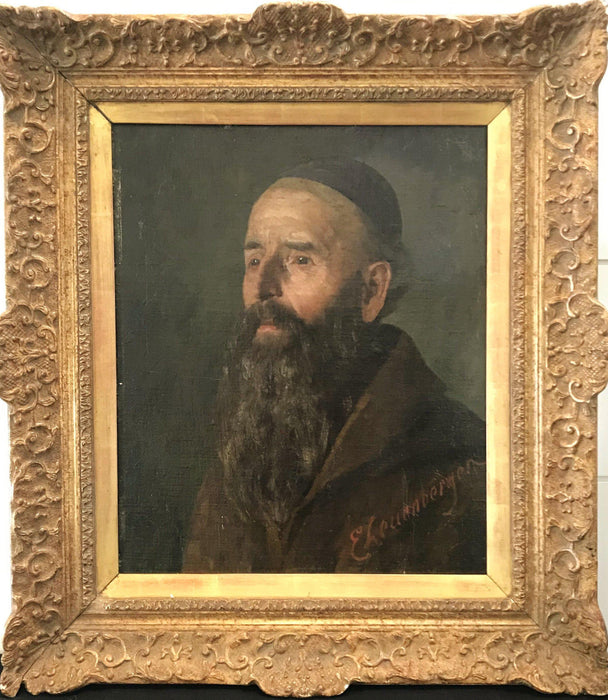 for sale: Oil Portrait by listed artist Ernst Otto Leuenberger (1856-1937)