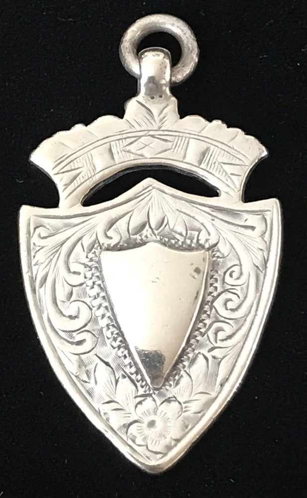 British Silver Medal Pendant made in Birmingham, England 1907 for sale