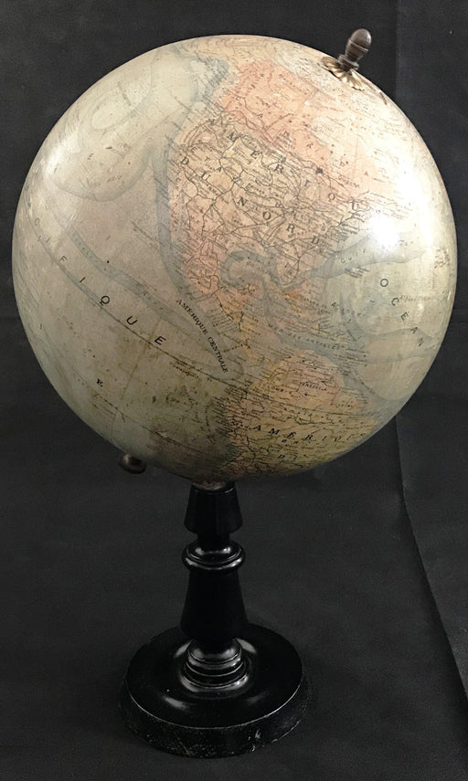 19th Century Napoleon III French Antique Globe by J. Forest, Girard et Barrere, Paris