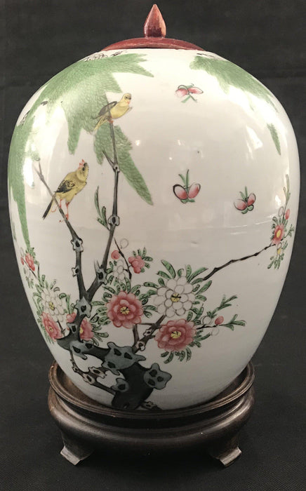 Hand Painted Ginger Jar from France