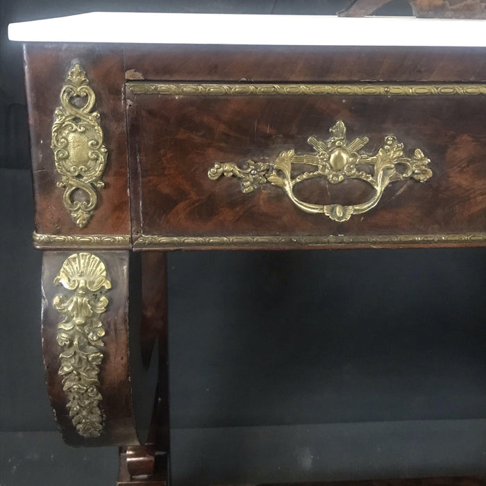 Charles X Mahogany Empire Dressing Table, France, circa 1820