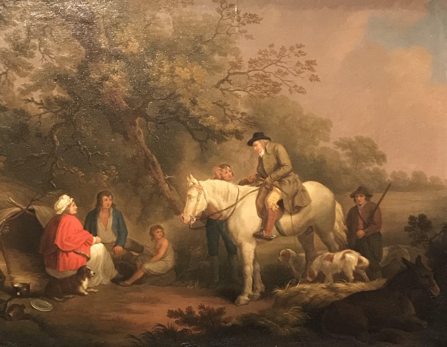 For sale: Important British Geo. Moreland/Thomas Hand Hunting Scene Oil Painting