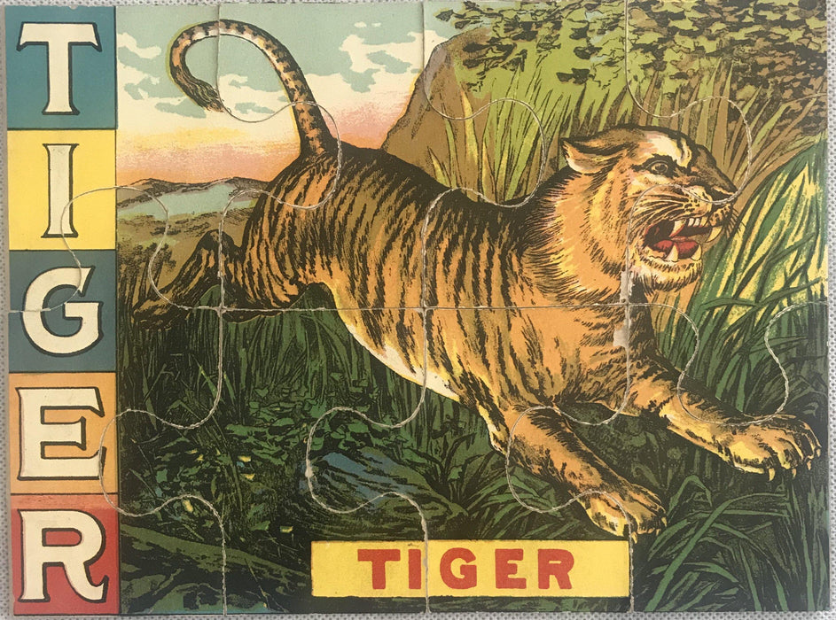 Tiger puzzle for sale antique