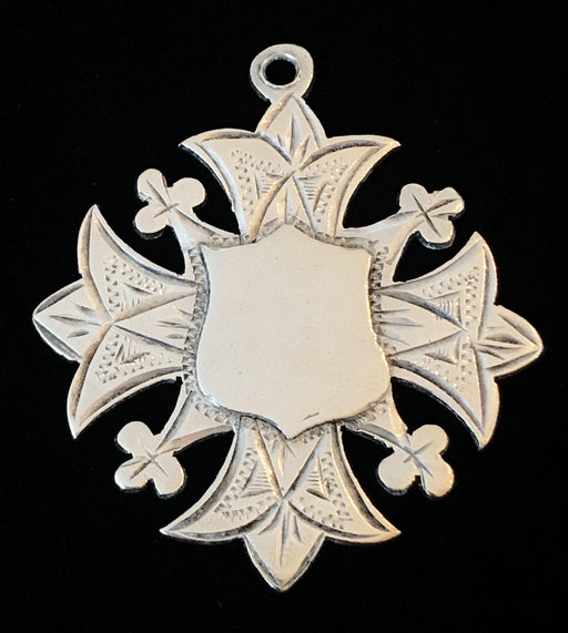 British Silver Medal Pendant made in Birmingham 1903 for sale