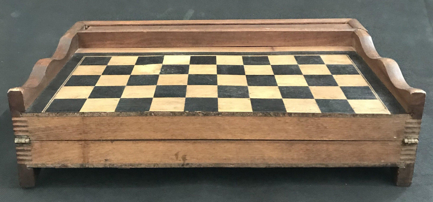 French Inlaid Chess and Checkerboard/Chequerboard and Backgammon