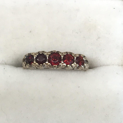 British Antique Garnet Band Ring