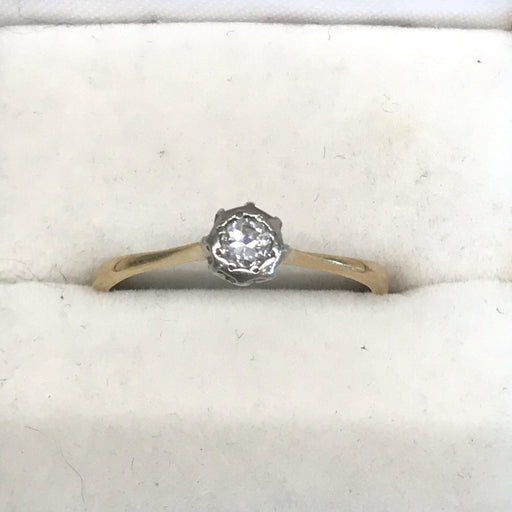 English Diamond Ring with Platinum Top Head Setting