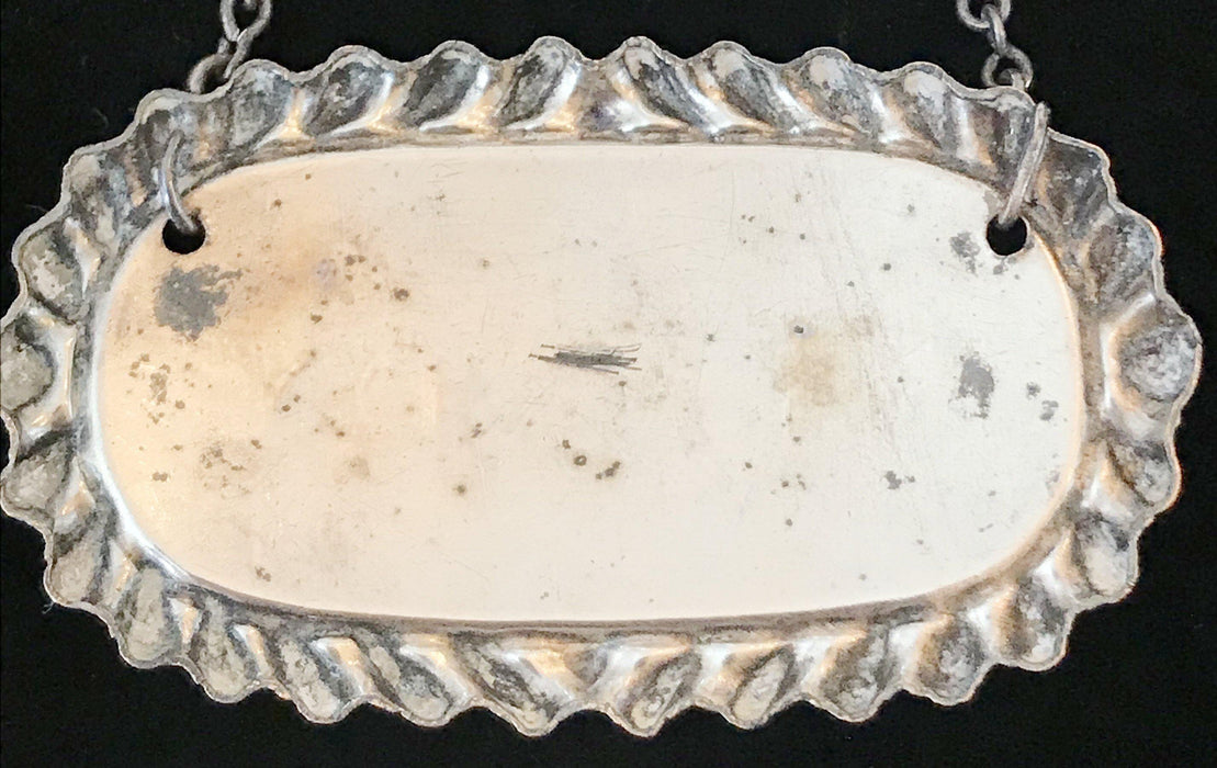 British Silver Plate Sheffield Brandy Label from 1810-15