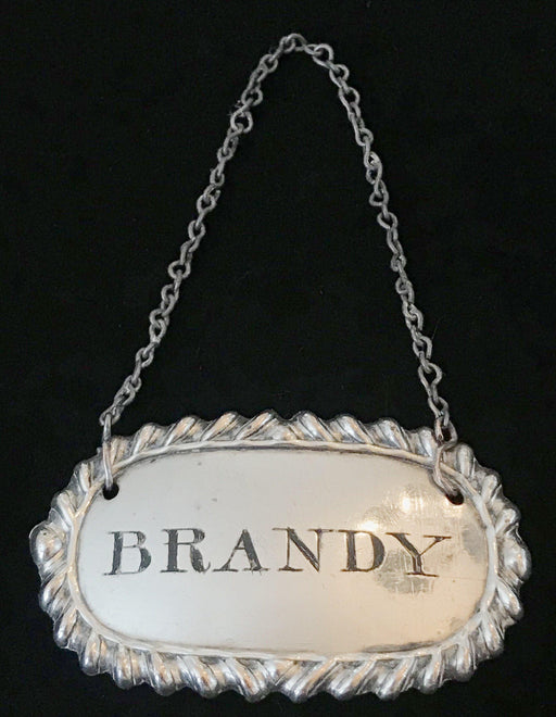British Sheffield 1810-15 Silver Plate Brandy Label for sale