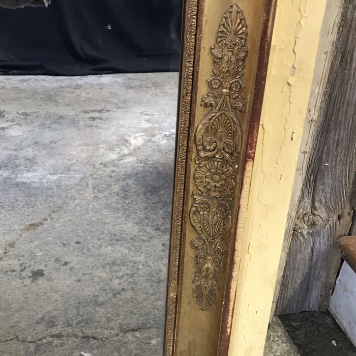 19th Century Trumeau Mirror with Gold Gilt Frame from Avignon, France