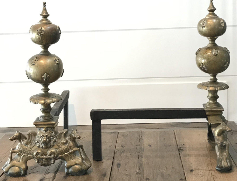 Antique French Andirons for sale