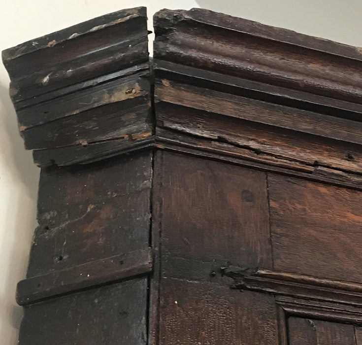 Early Antique Georgian British Corner Cupboard