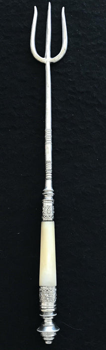 Beautiful Silver Tall British Bread/Toast Fork  for sale