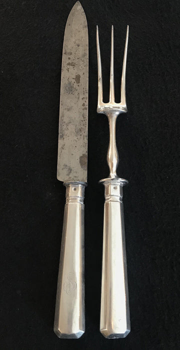 Buy this Early Silver Two Piece British Serving Set. Gorgeous!