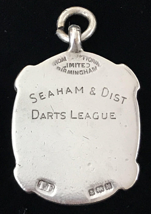 British Silver/Gold UK Darts League Medal Pendant from Birmingham, England to buy gorgeous