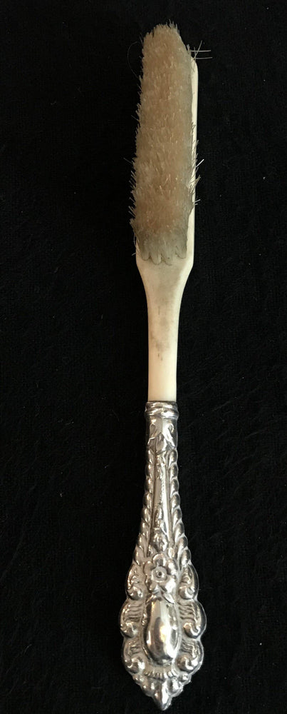 For sale: French Victorian-Era Bone/Silver Brush