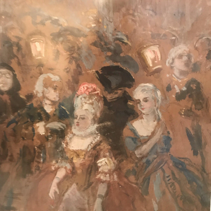 """L' Uscita alla Festa"" (Going out to the Party) painting by Vincenzo LaBella (1872-1954)"