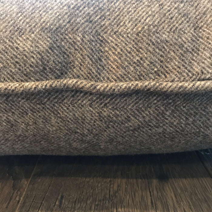 Buy this British Gray Wool Herringbone Pillow (New) traditional