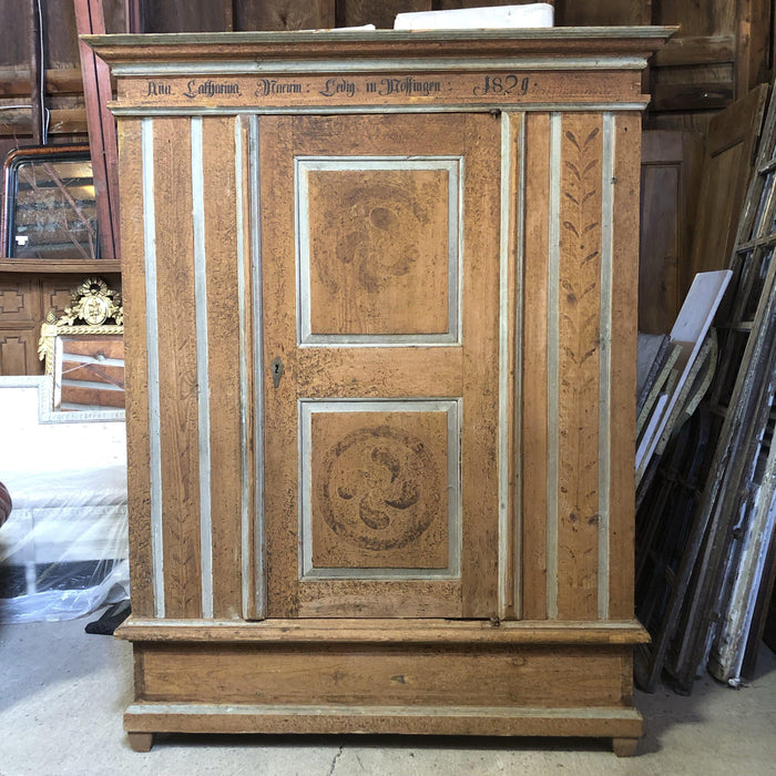 Faux Painted Armoire Bought in France