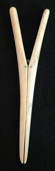 Antique spring action bone glove stretcher made in England to sell!