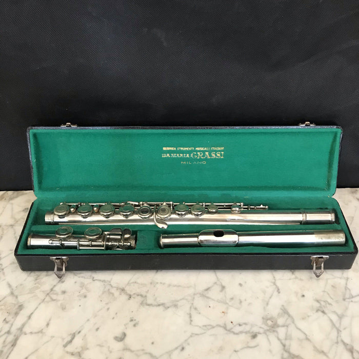 Italian Silver Vintage Rampone and Cazzani Flute from Milan