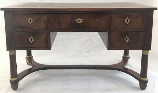 For Sale: 19th Century French Dual Sided Empire Style Pedestal Leg Desk