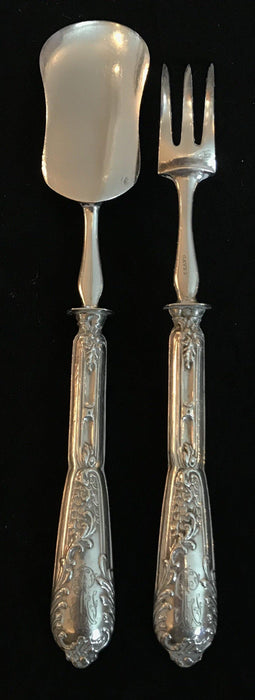 French Antique Silver Two Piece Hors D'Oeuvres Set