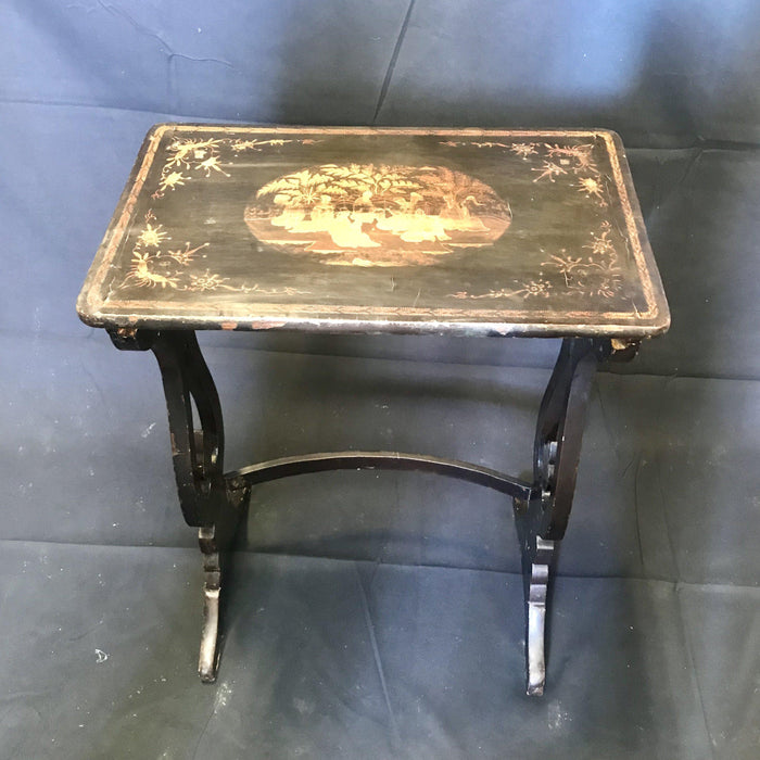 Set of Four French Chinoiserie Nesting Tables