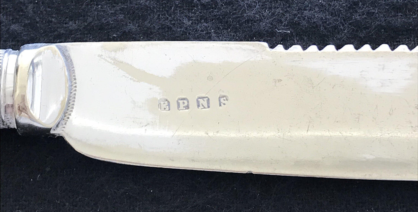 English Mother of Pearl Cake Knife (Hallmarks)