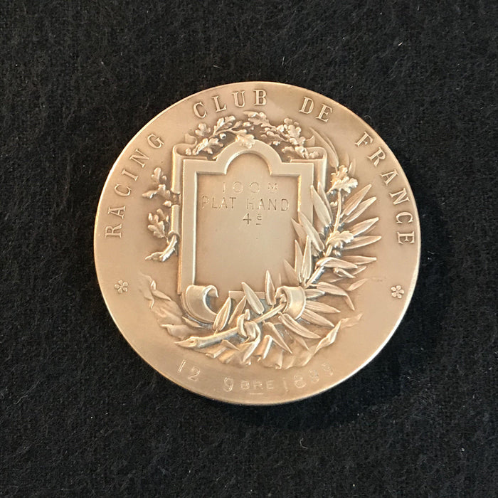 french medal la course racing club de france antique