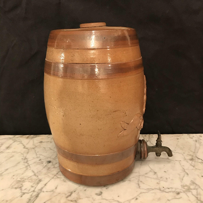 19th Century English Stoneware Spirit Barrel: Sherry