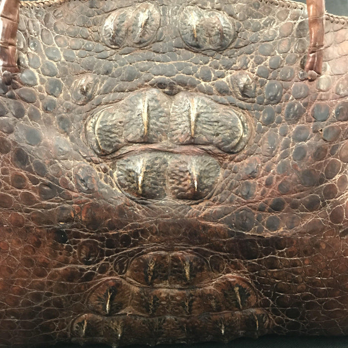 For sale: 20th century crocodile bag