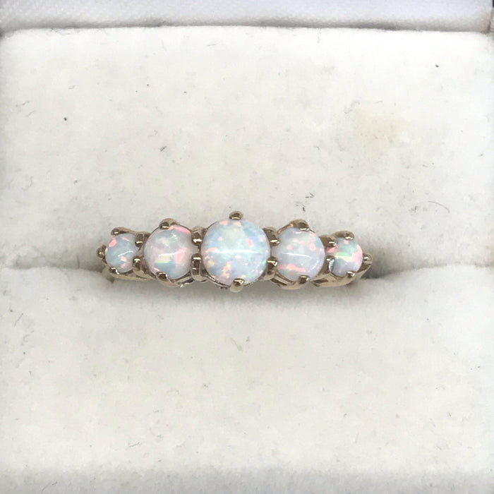British Vintage Fiery Opal Ring