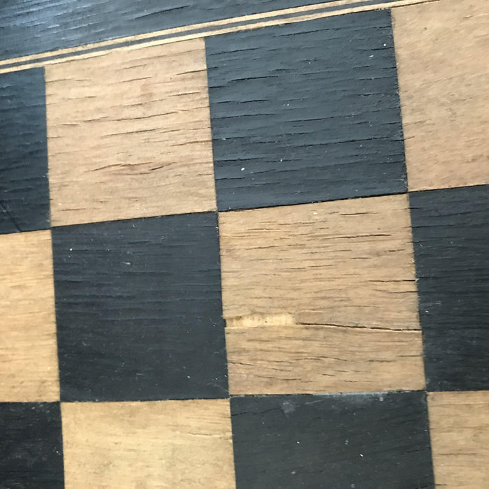 Antique Games for sale: French Inlaid Chess and Checkerboard/Chequerboard, Backgammon