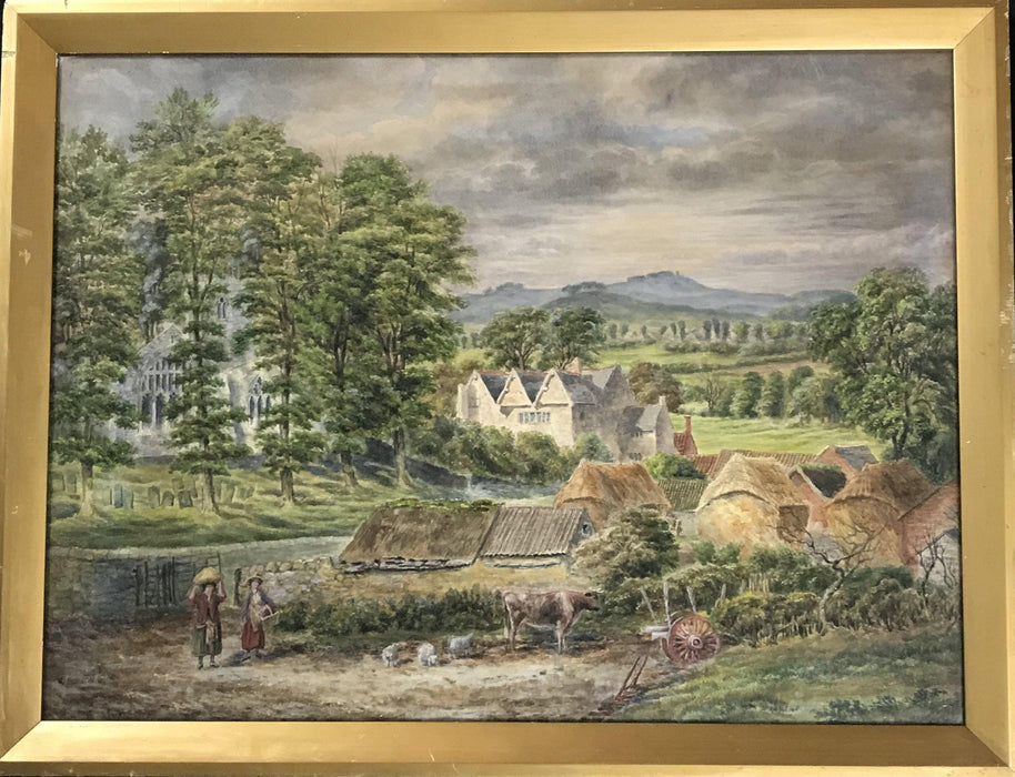 Beautiful Important British Early Watercolor Painting Unsigned for sale
