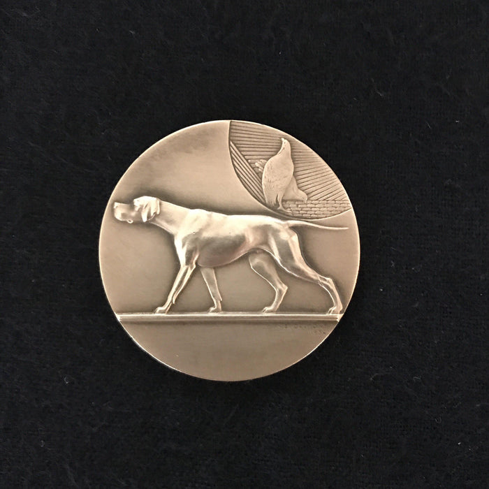 Signed French Gold Dog Medal: Exposition Canine D'Albi 16 Juin 1935 for sale