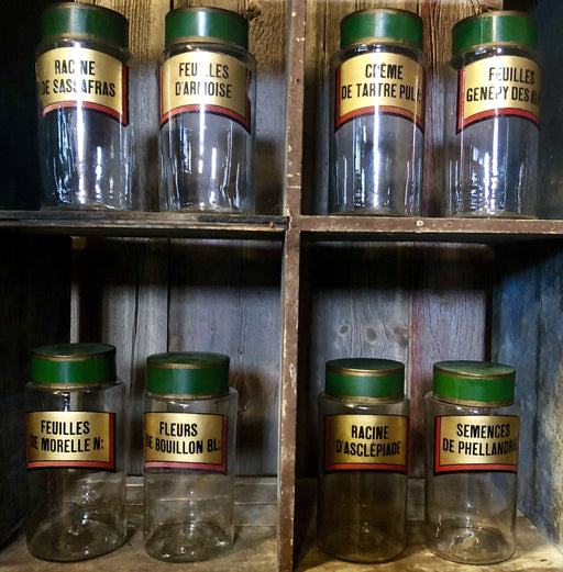 French Apothecary Jar Set of 8