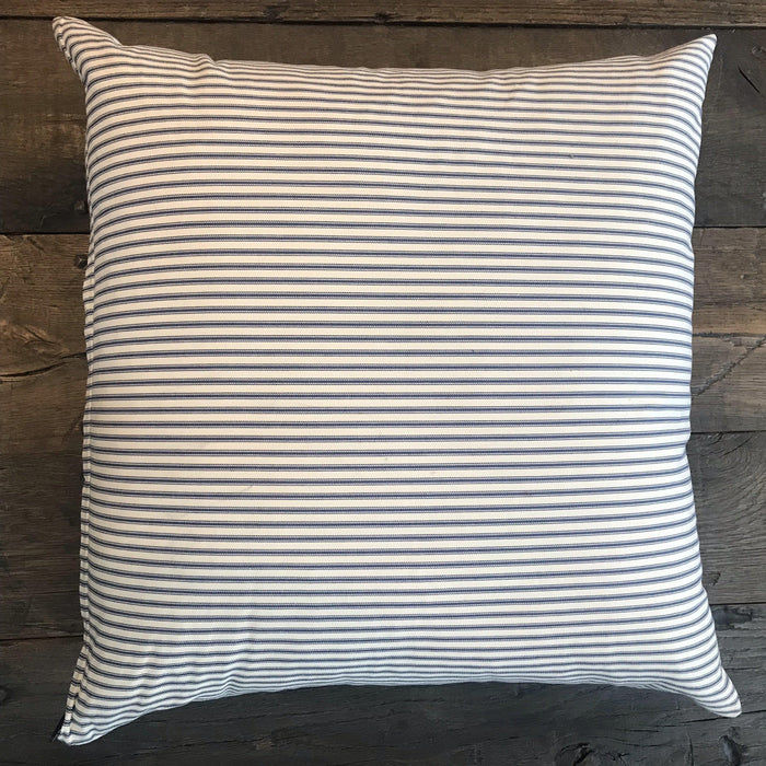 British Cotton Deer Pillow with French Ticking Back (New) to sell
